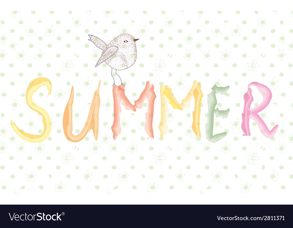 Summer banner with bird artistic vector | Price: 1 Credit (USD $1)