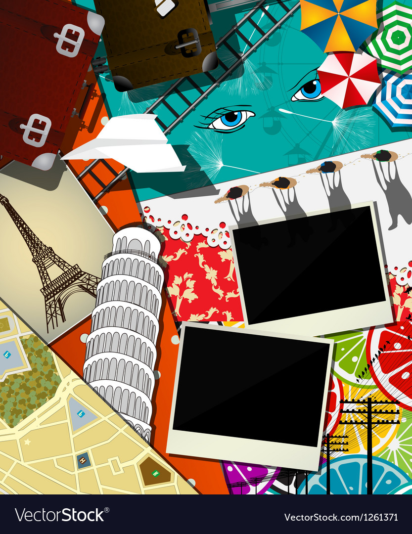 Travel abstract collage vector | Price: 3 Credit (USD $3)