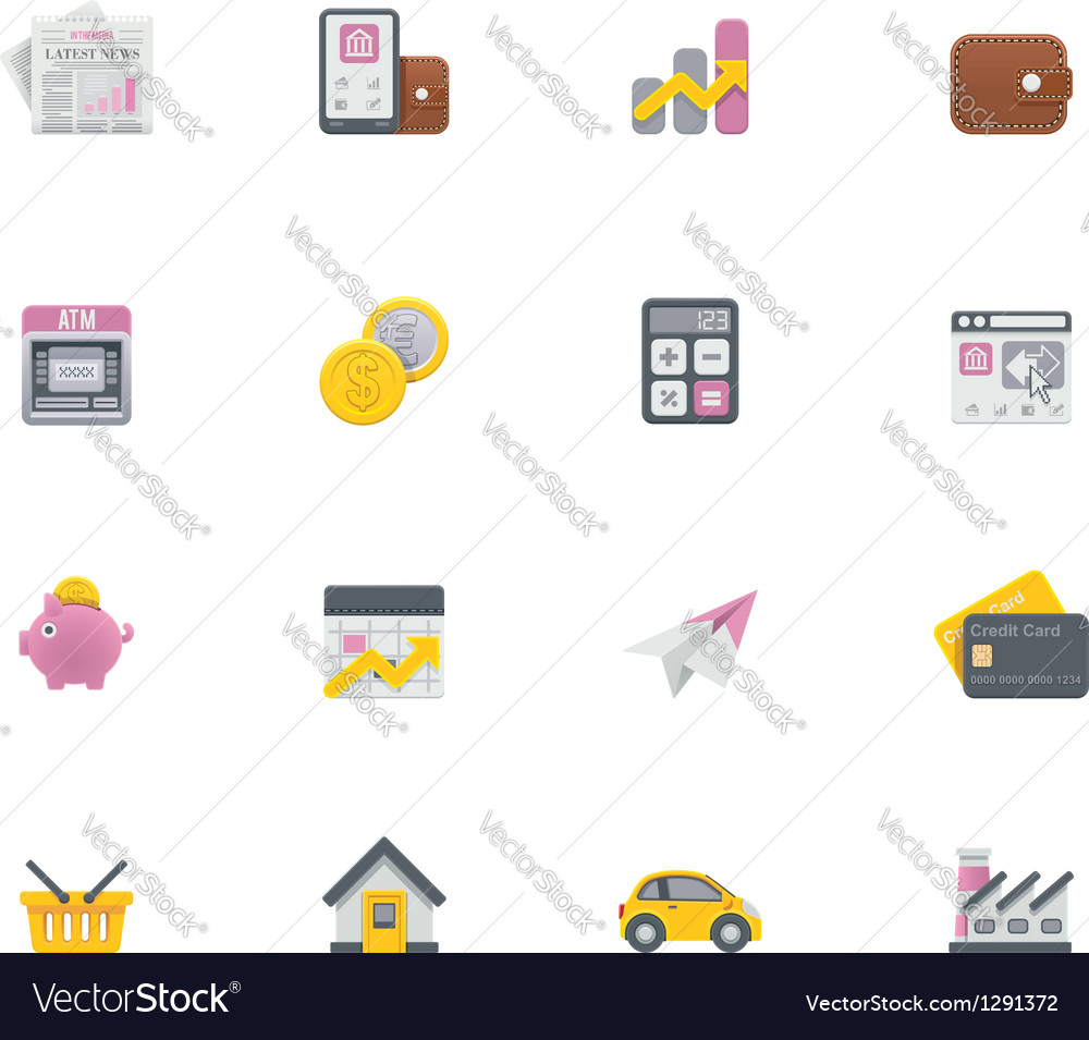 Banking icons vector | Price: 1 Credit (USD $1)