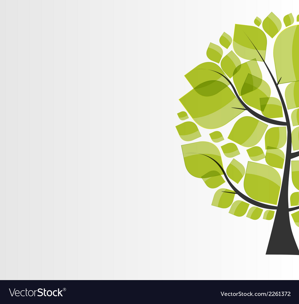 Beautiful green tree on a white background vector | Price: 1 Credit (USD $1)