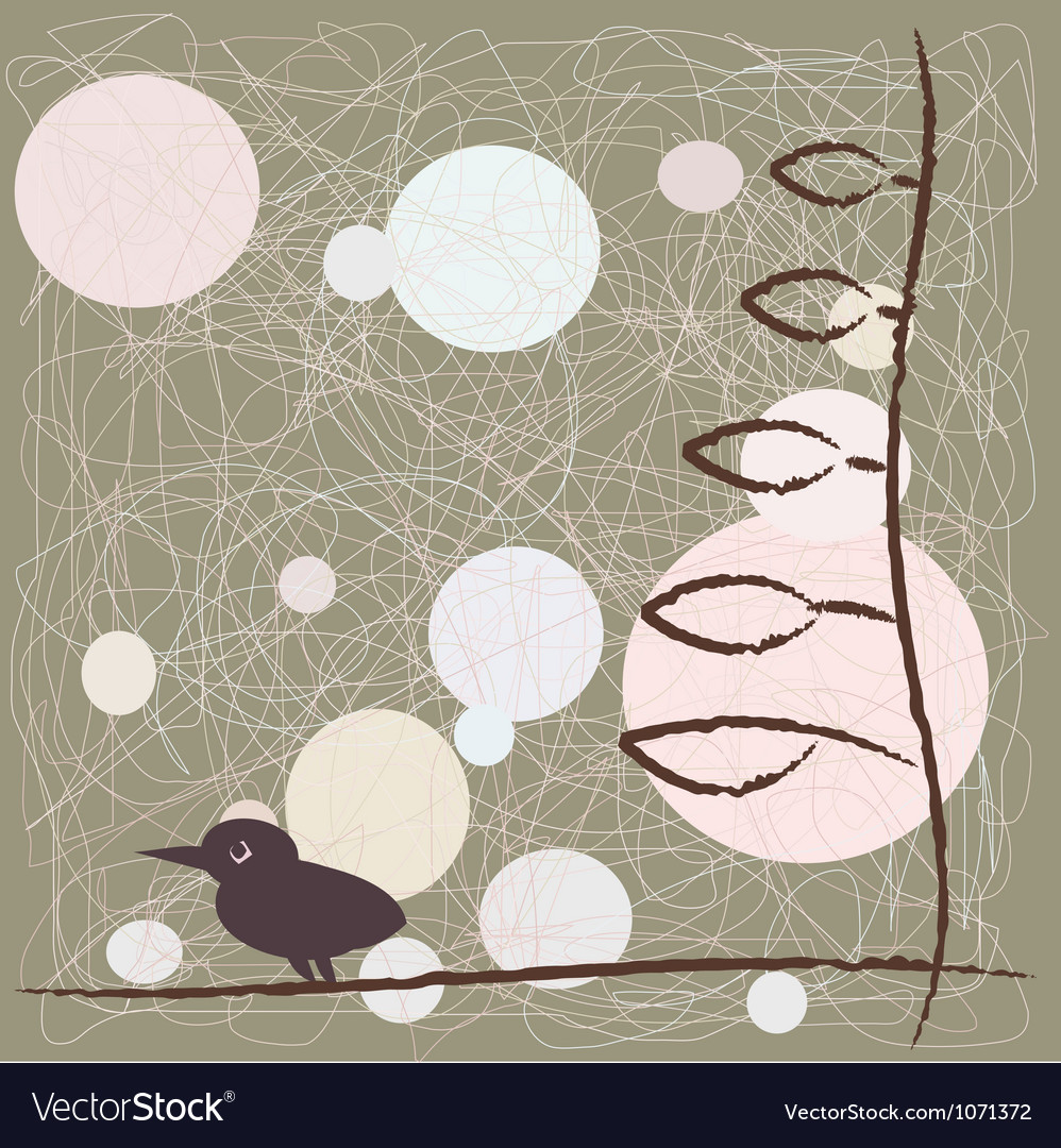 Bird on a branch of animation vector   Price: 1 Credit (USD $1)