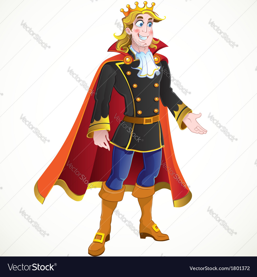 Blond prince charming vector | Price: 3 Credit (USD $3)
