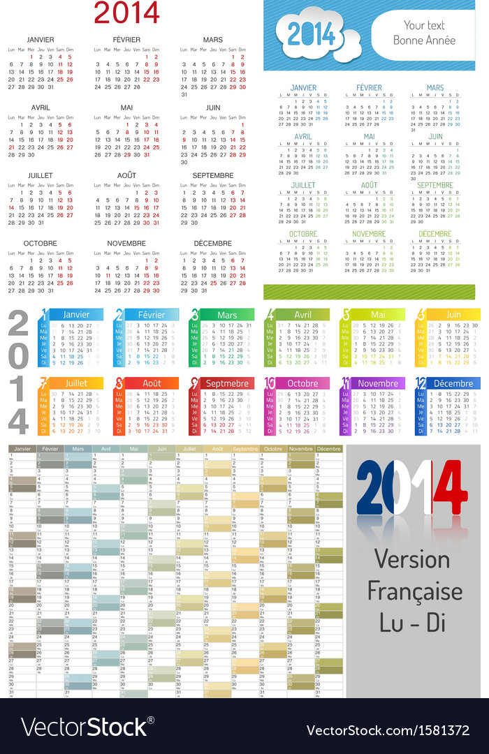 Calendar 2014 vector | Price: 1 Credit (USD $1)