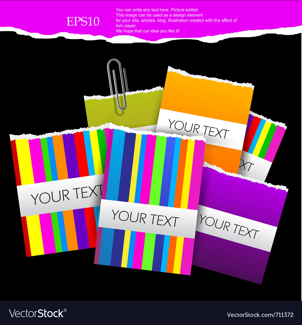Colorful little notes on black background with spa vector | Price: 1 Credit (USD $1)