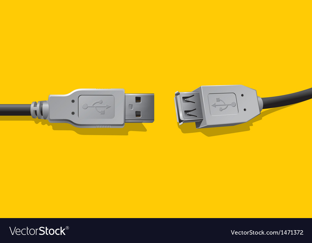 Computer connector vector | Price: 1 Credit (USD $1)