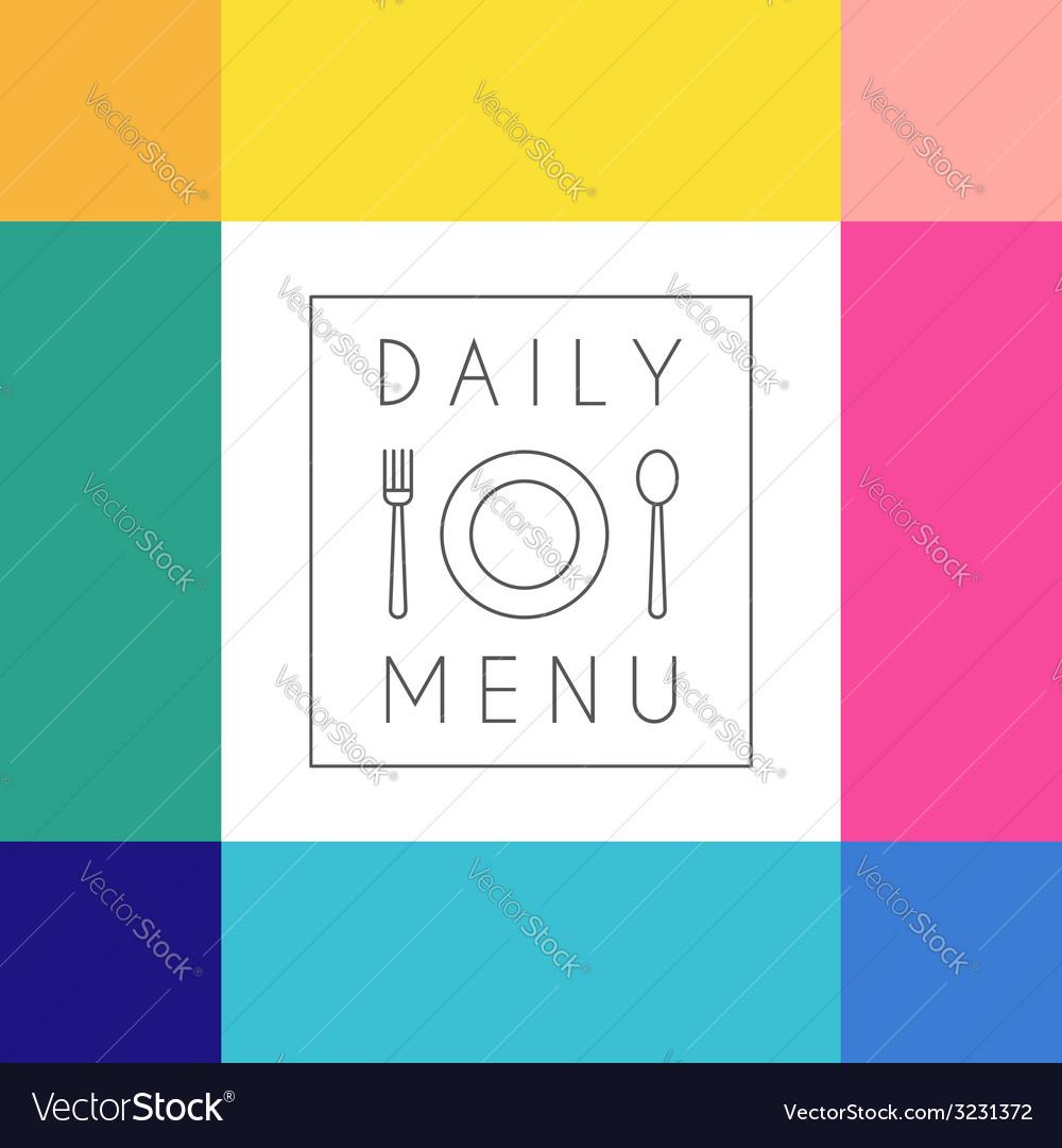 Daily menu design template vector | Price: 1 Credit (USD $1)