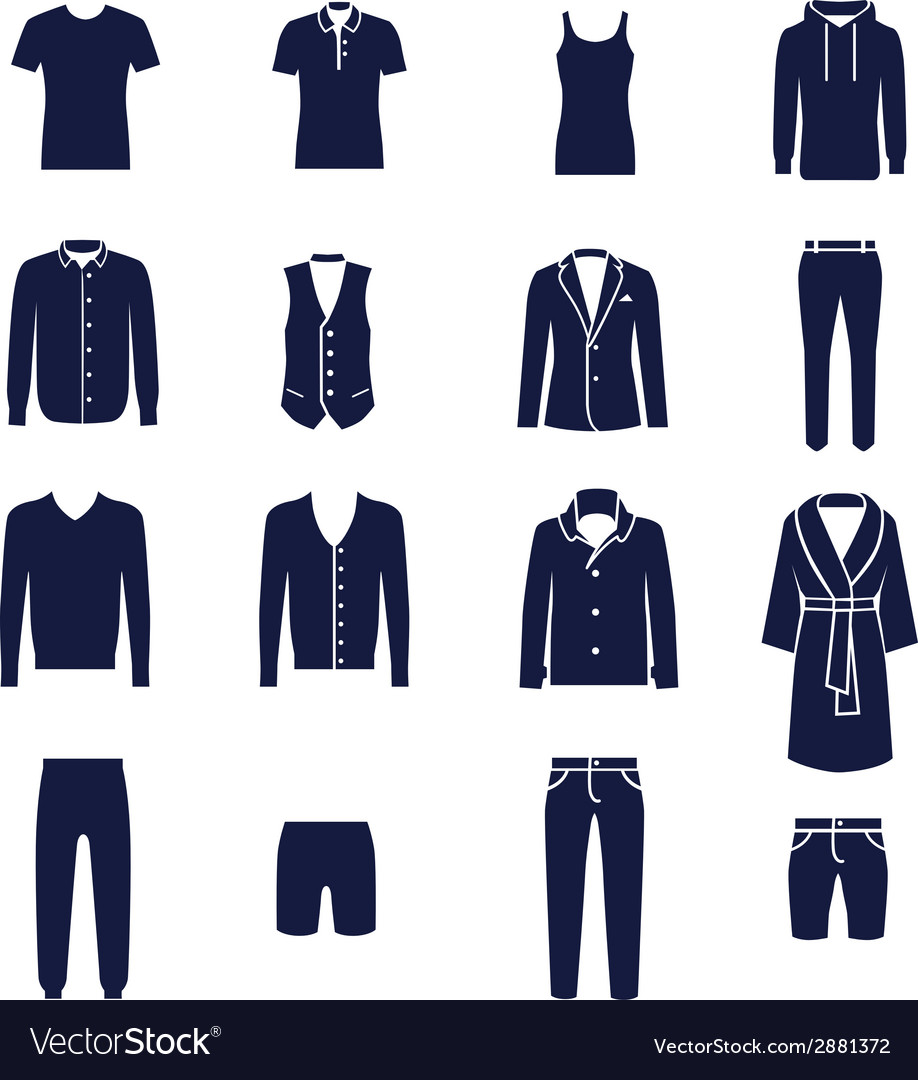Different types of men clothes vector | Price: 1 Credit (USD $1)