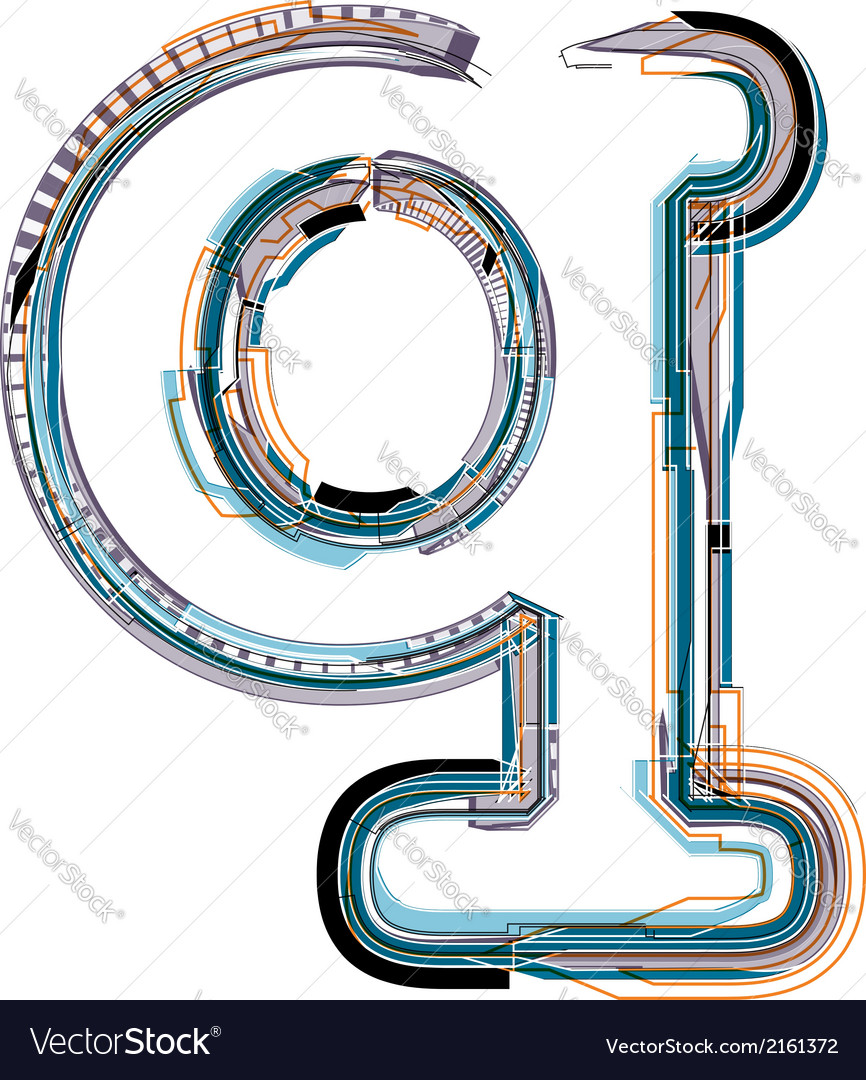 Font letter q vector | Price: 1 Credit (USD $1)