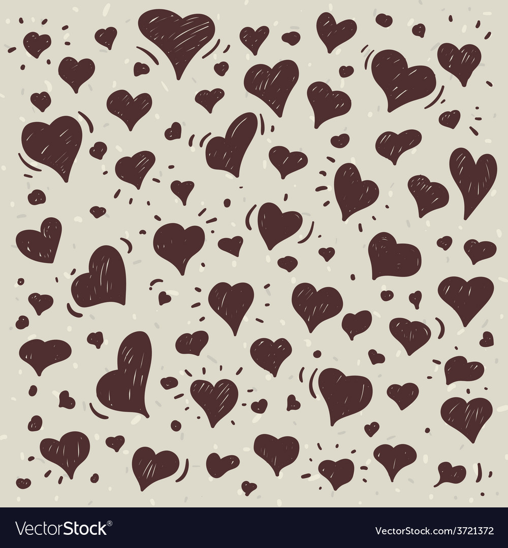 Hand drawn of different lovely hearts vector | Price: 1 Credit (USD $1)