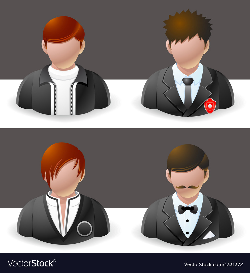 People icons men vector | Price: 3 Credit (USD $3)