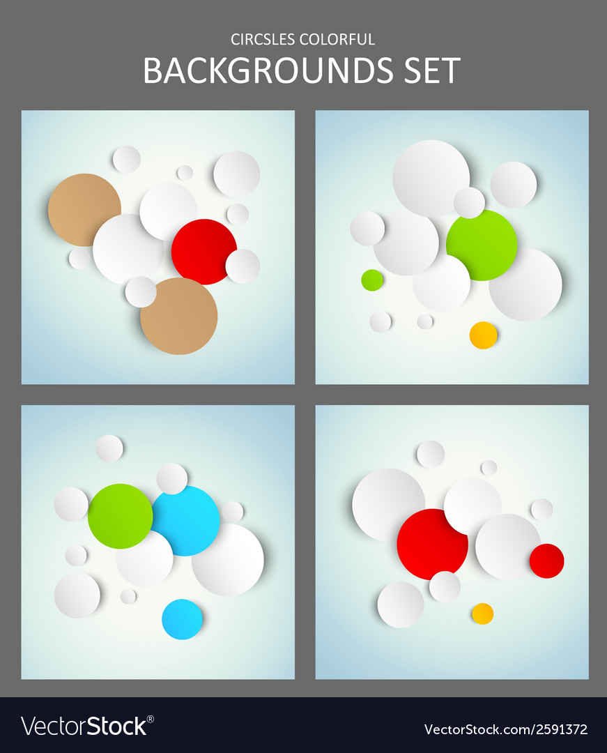 Set of backgrounds vector | Price: 1 Credit (USD $1)