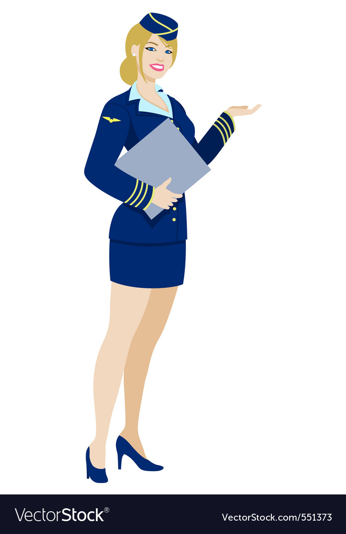 Air hostess vector | Price: 3 Credit (USD $3)