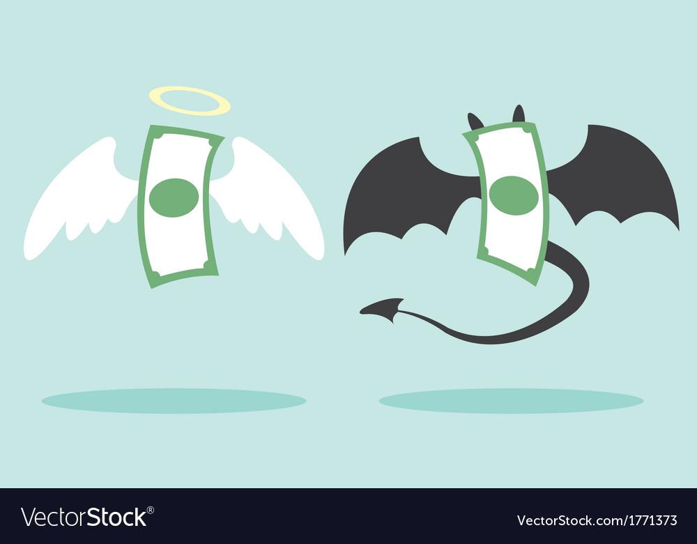 Angel money and devil money vector | Price: 1 Credit (USD $1)