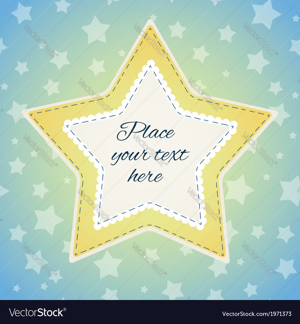 Background with stitched stars vector | Price: 1 Credit (USD $1)