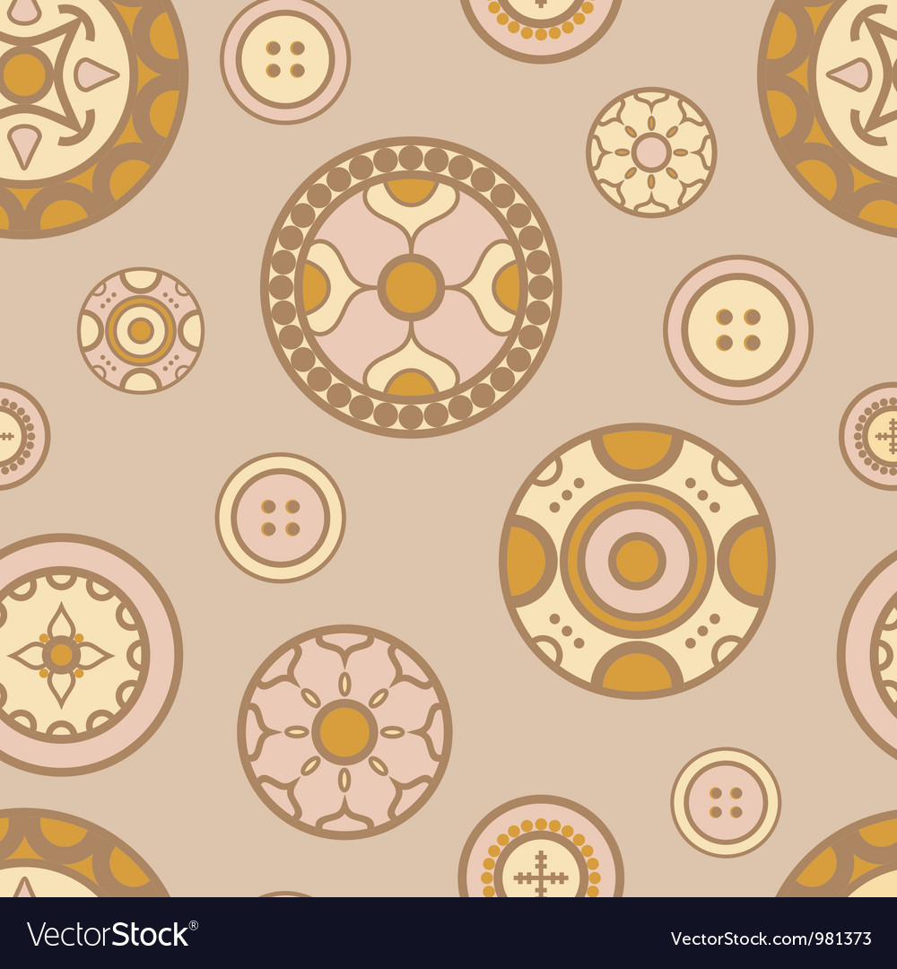 Buttons pattern vector | Price: 1 Credit (USD $1)