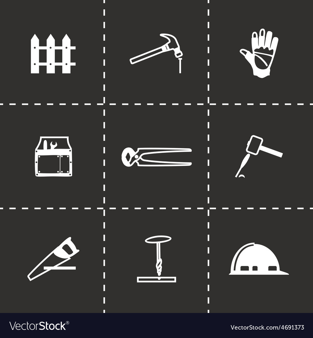 Carpenty icon set vector | Price: 1 Credit (USD $1)