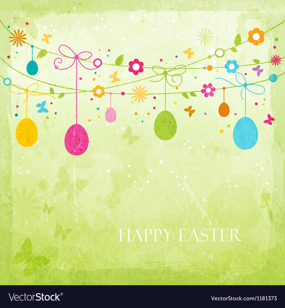 Colorful happy easter design vector | Price: 1 Credit (USD $1)