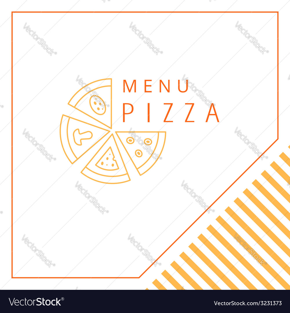 Design menu pizza vector | Price: 1 Credit (USD $1)