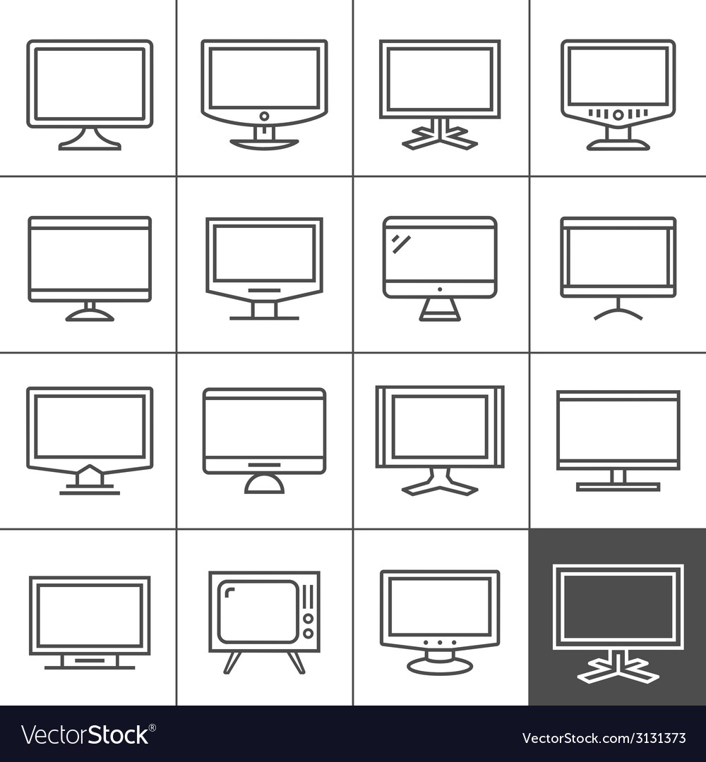 Display devices vector | Price: 1 Credit (USD $1)