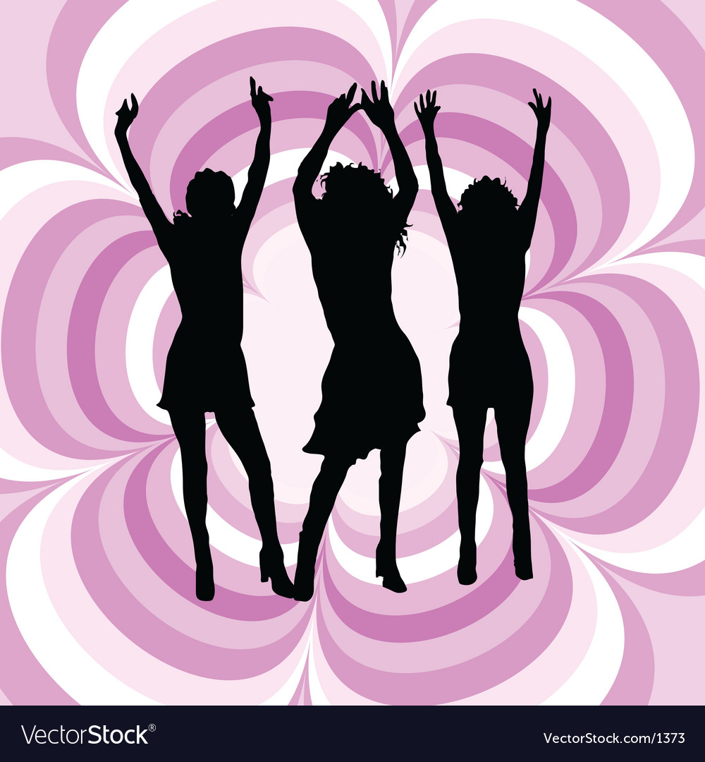 Females dancing vector