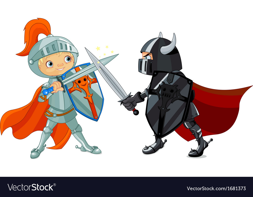 Fighting knights vector
