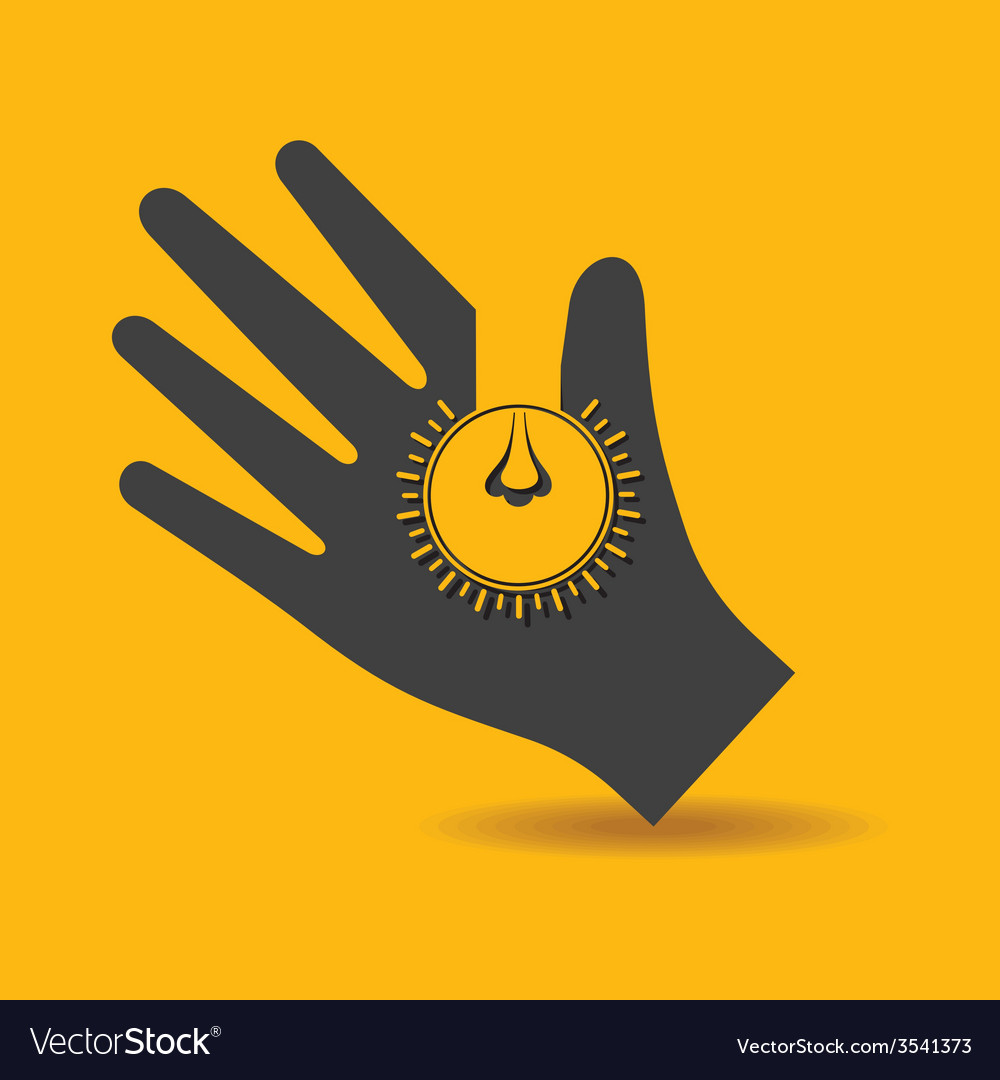 Human hand with light bulb idea solution concept vector | Price: 1 Credit (USD $1)