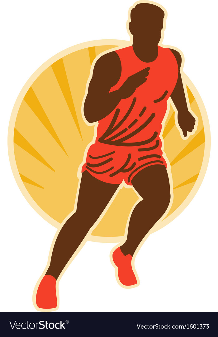 Marathon runner running vector | Price: 1 Credit (USD $1)