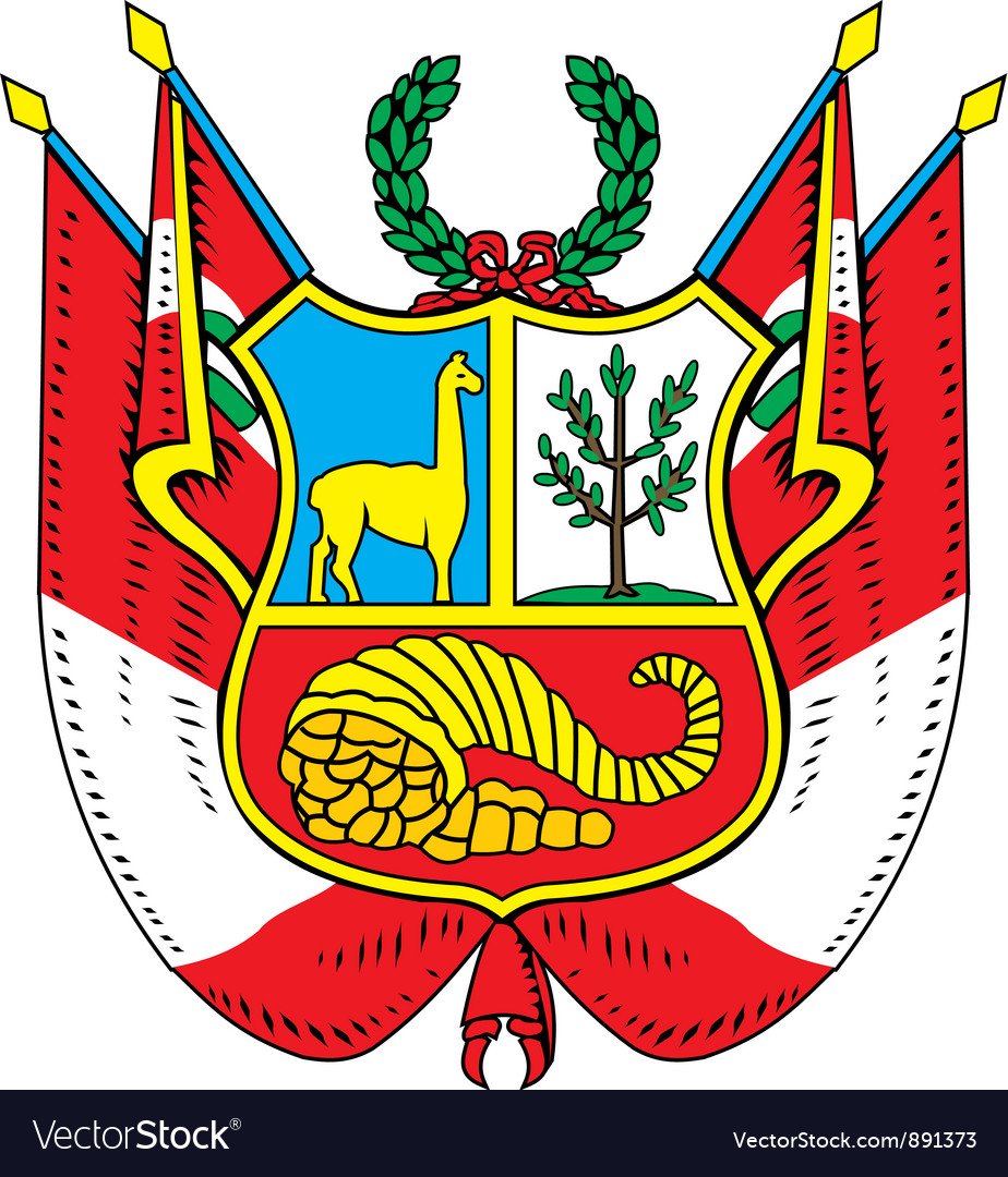 Peru coat-of-arms vector | Price: 1 Credit (USD $1)
