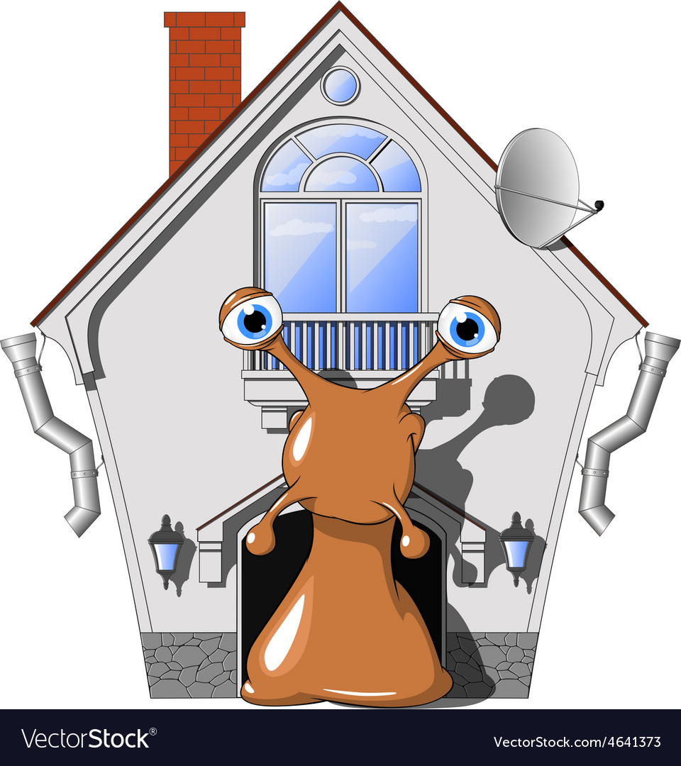 Snail in a cozy house vector | Price: 1 Credit (USD $1)