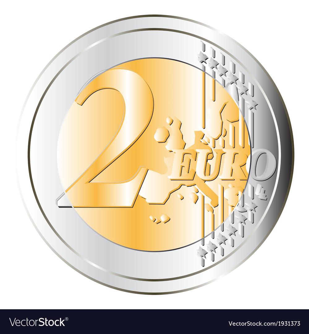 Two euros coin vector | Price: 1 Credit (USD $1)