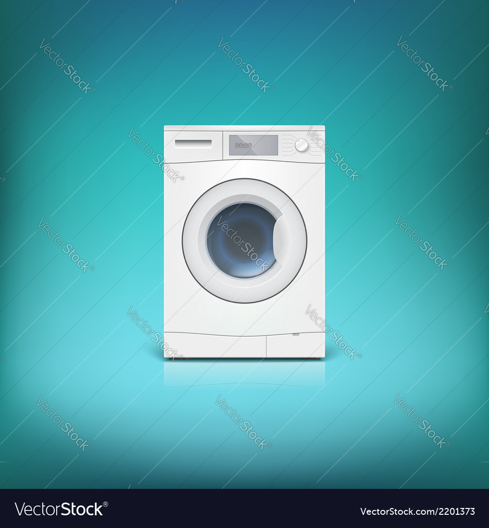 Washing machine isolated vector | Price: 1 Credit (USD $1)