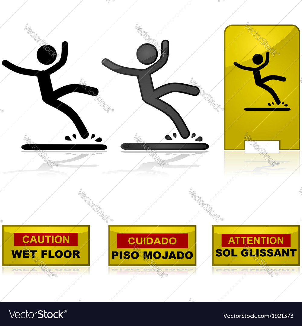 Wet floor vector | Price: 1 Credit (USD $1)