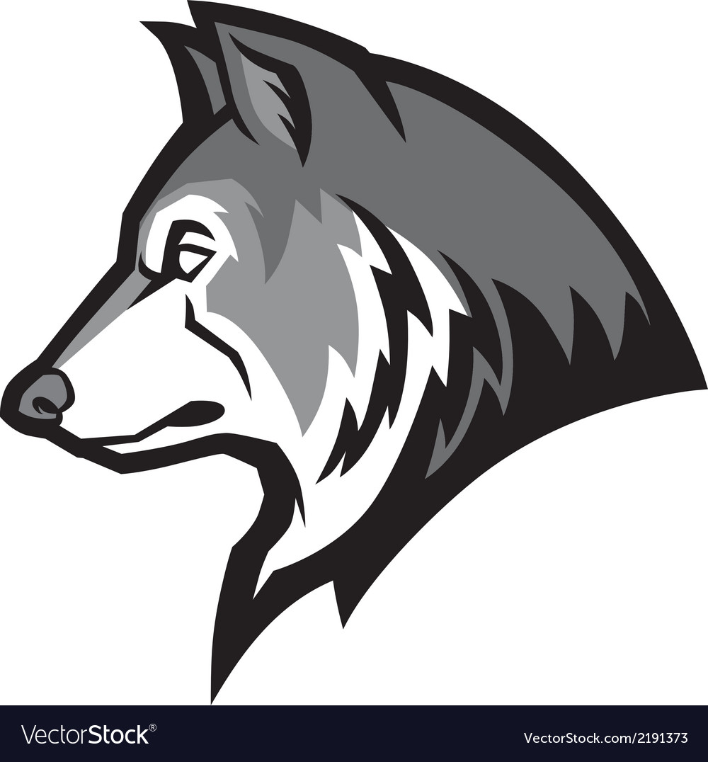 Wolf mascot vector | Price: 1 Credit (USD $1)