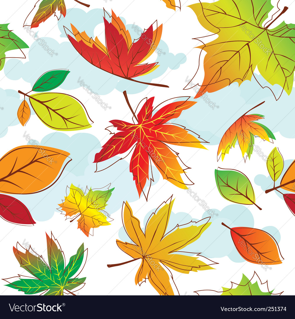 Autumn leave vector | Price:  Credit (USD $)