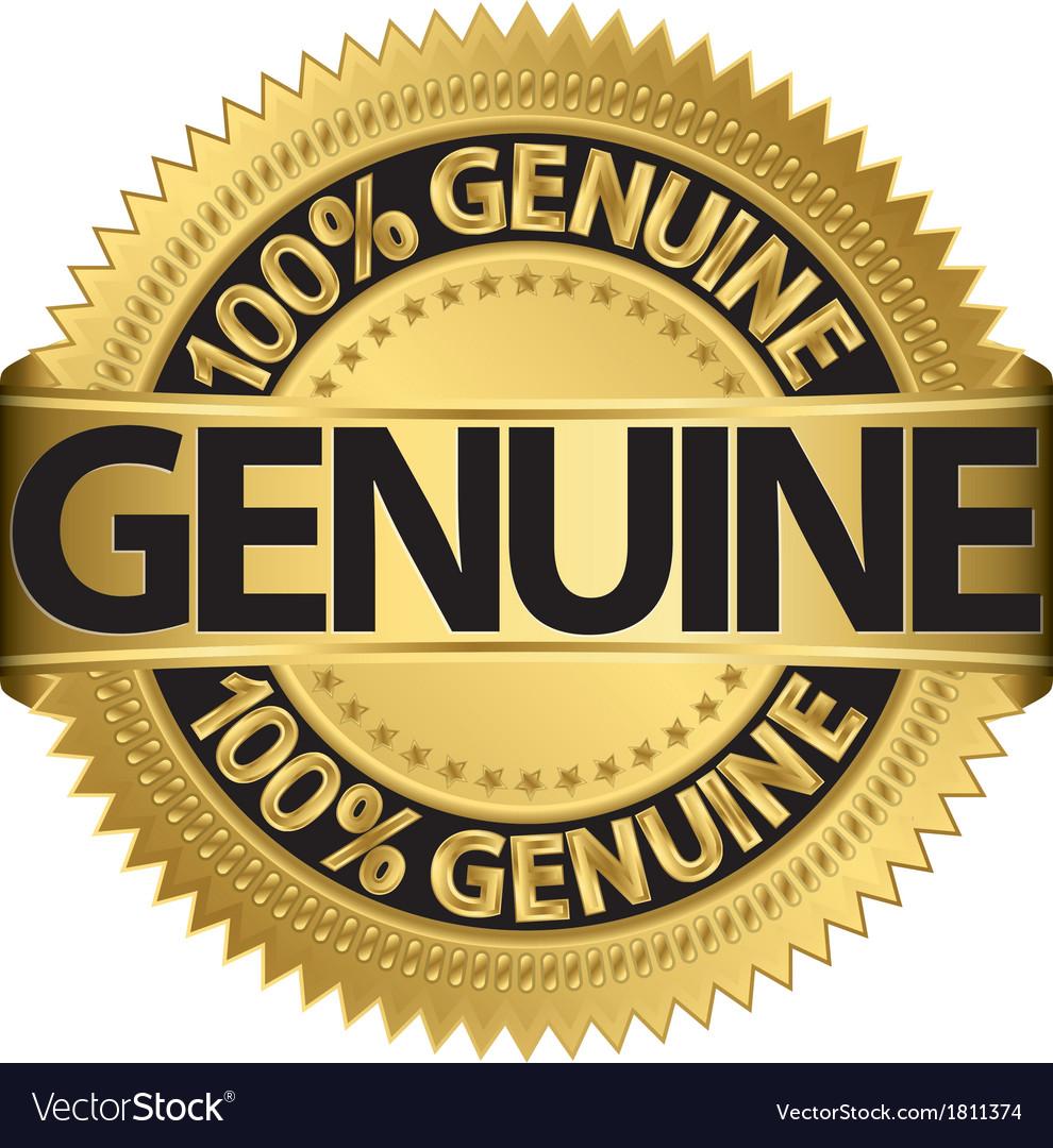 Genuine gold label vector   Price: 1 Credit (USD $1)