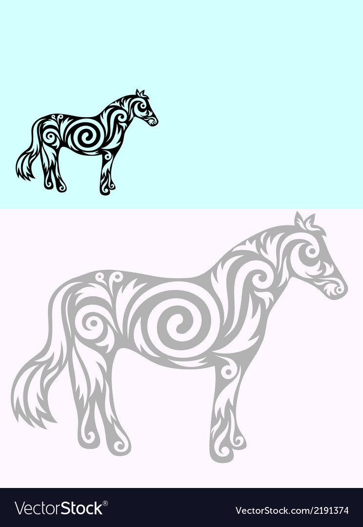 Horse ornate vector | Price: 1 Credit (USD $1)