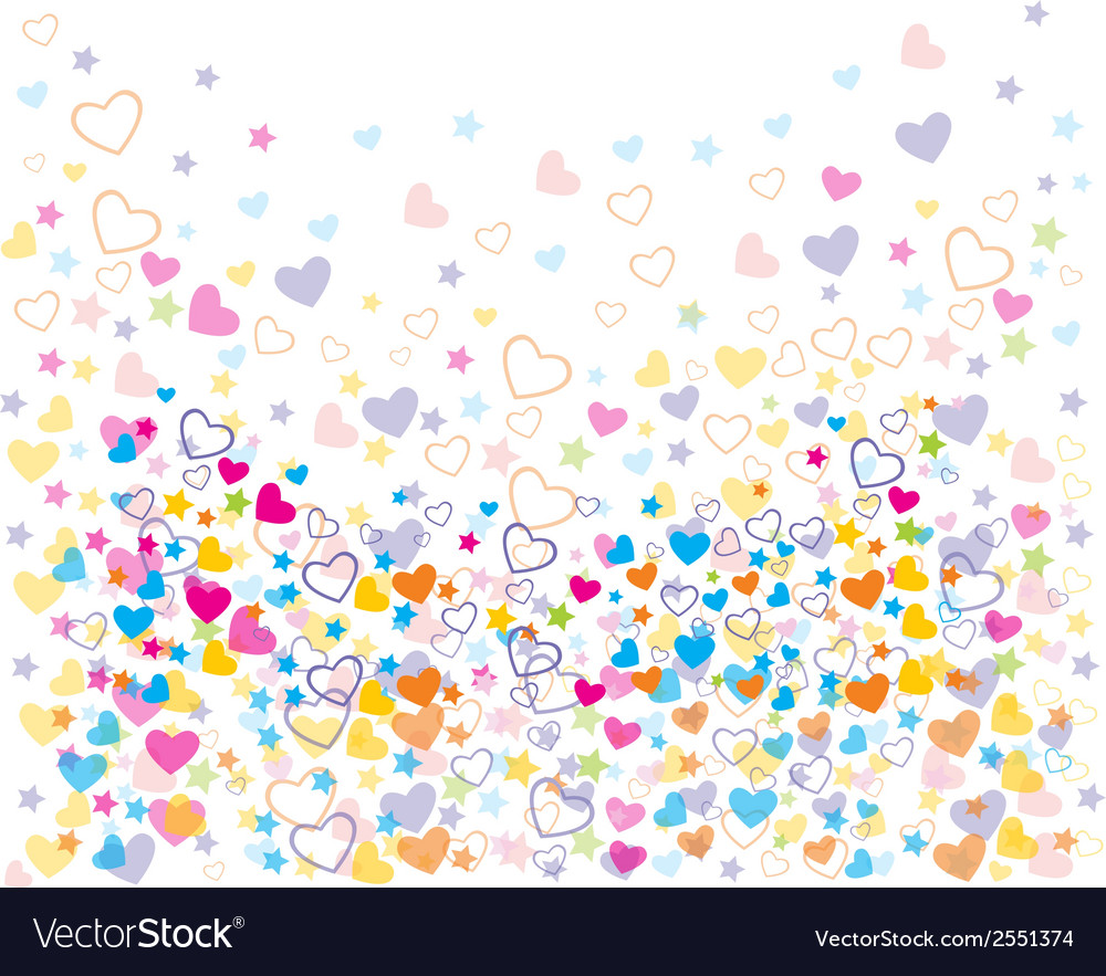 Love colorful seamless patterns vector | Price: 1 Credit (USD $1)