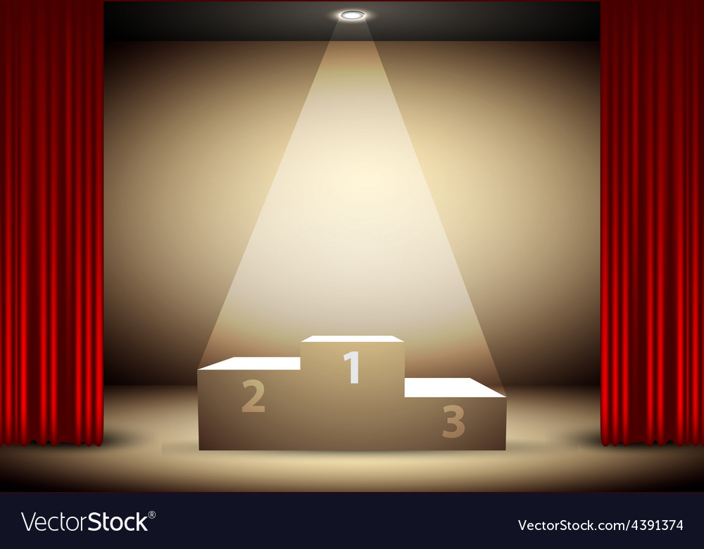 Podium for the winners vector | Price: 3 Credit (USD $3)