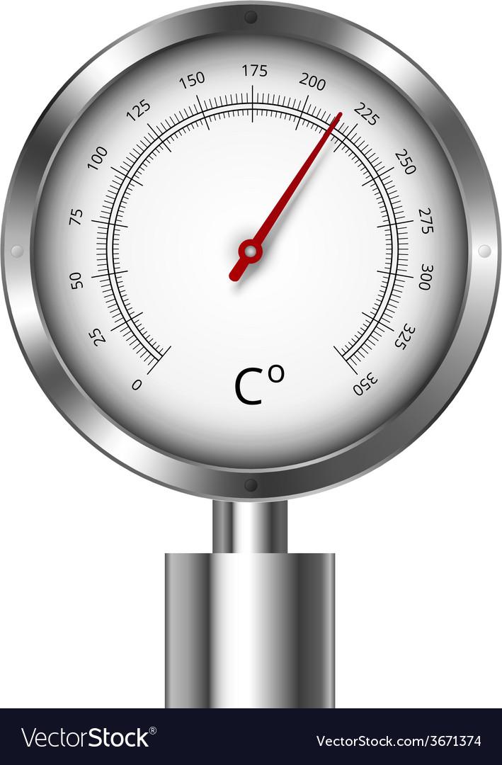 Temperature meter gauge vector | Price: 1 Credit (USD $1)