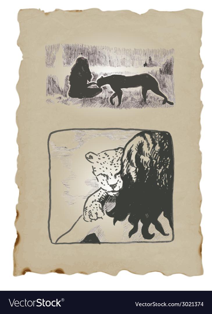 Underground comix leopard vector | Price: 1 Credit (USD $1)