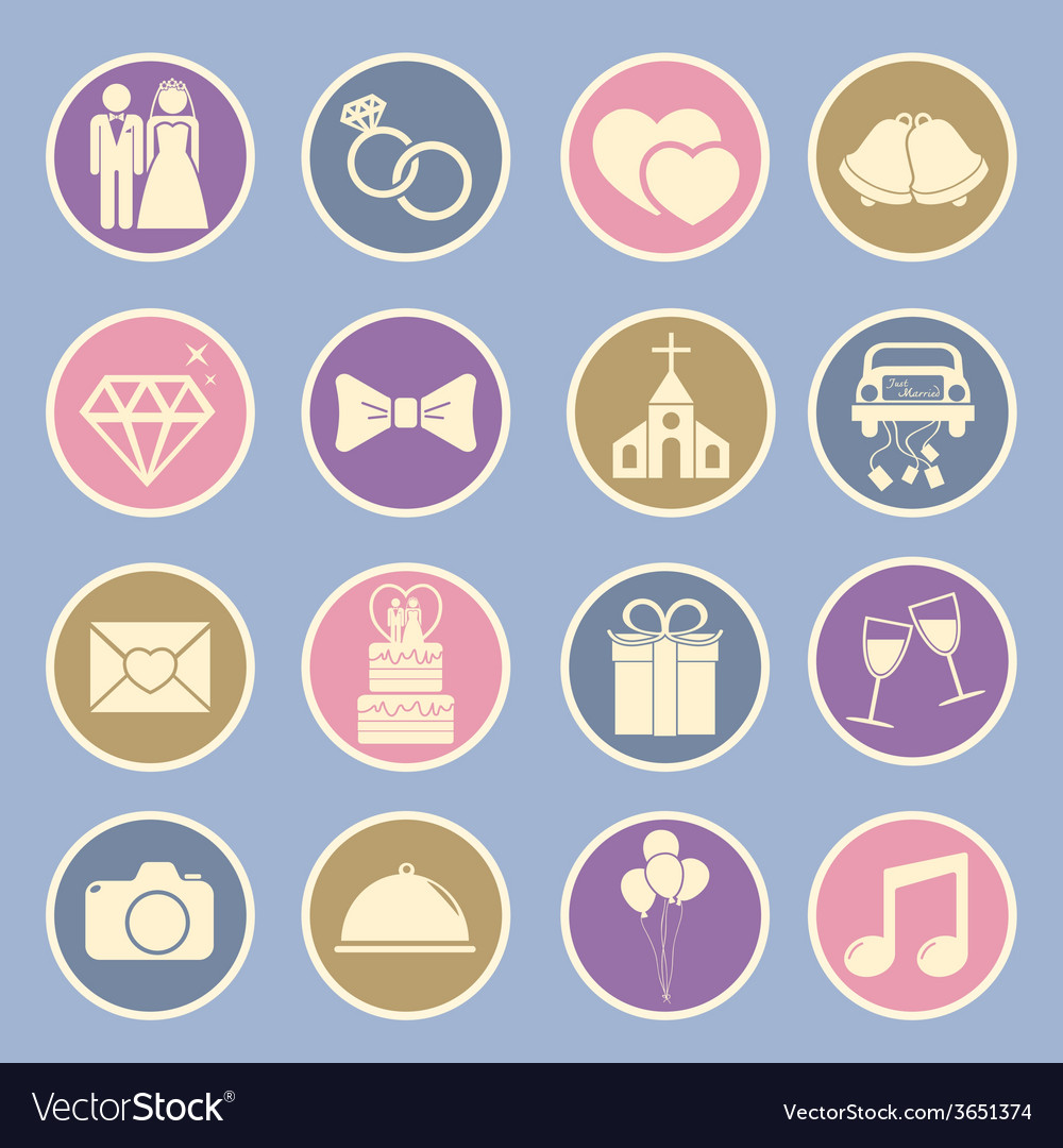 Wedding icon vector | Price: 1 Credit (USD $1)
