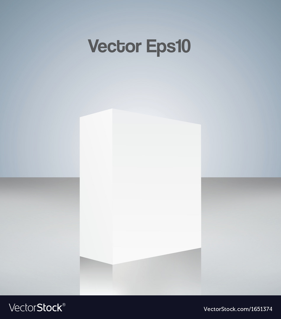 White cube vector | Price: 1 Credit (USD $1)