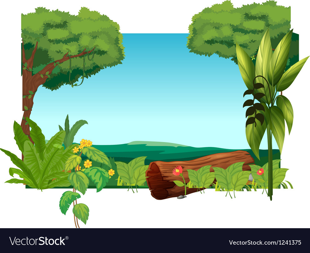A lion above a trunk at the jungle vector | Price: 1 Credit (USD $1)