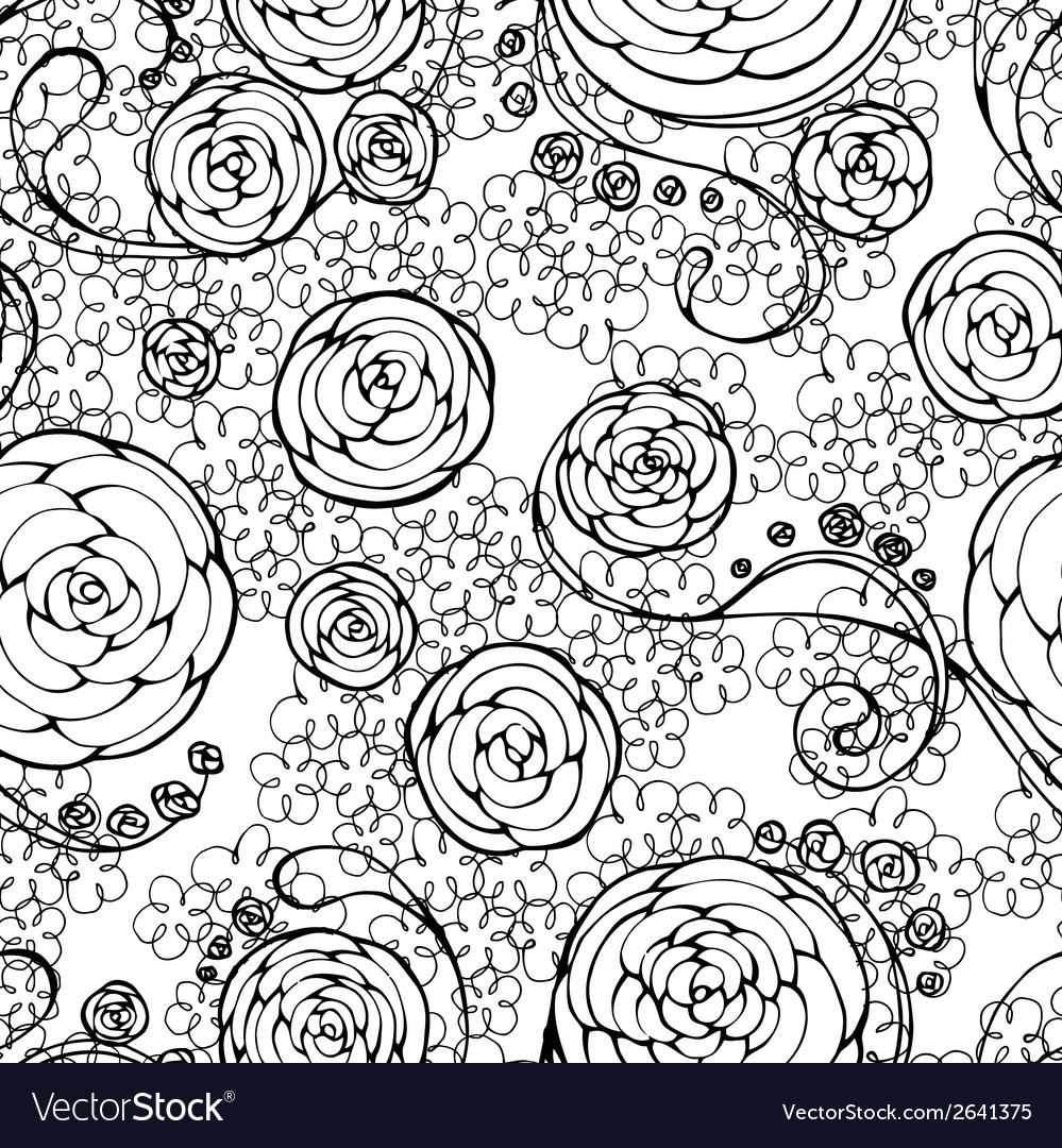 Black lace seamless pattern vector   Price: 1 Credit (USD $1)