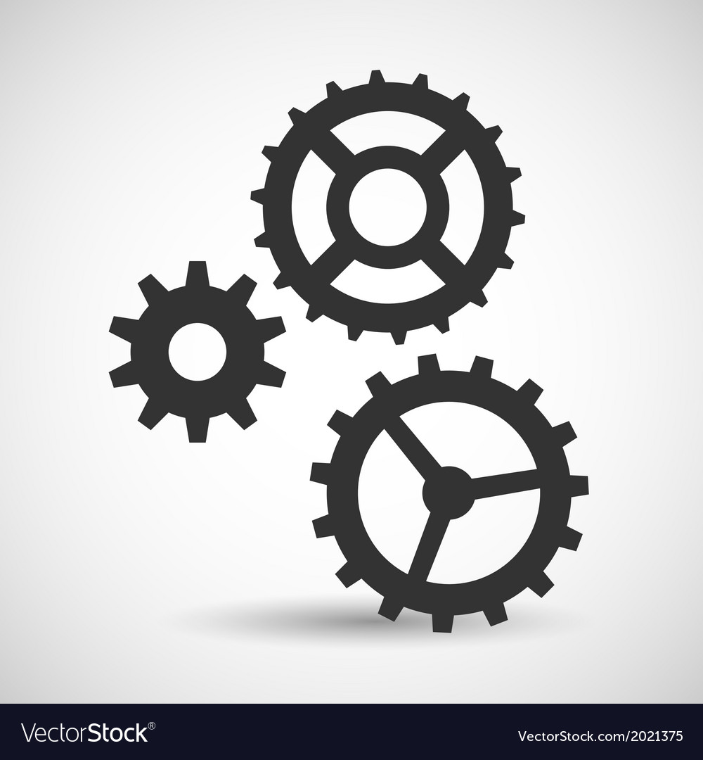 Cogwheel and development icon vector | Price: 1 Credit (USD $1)