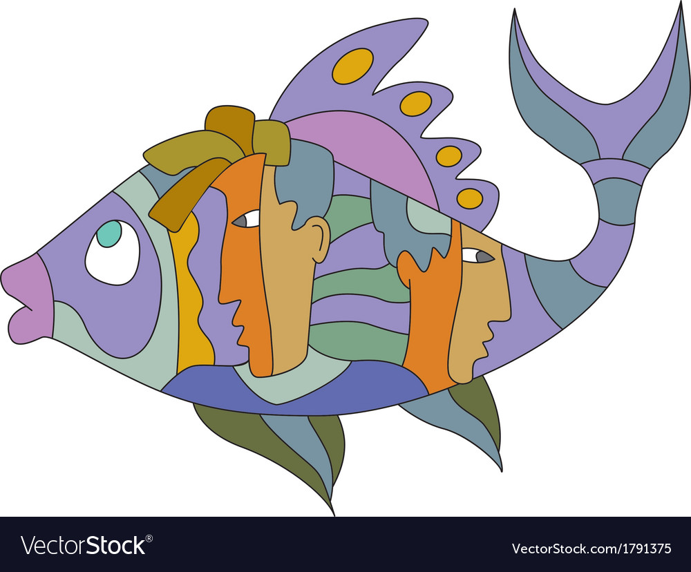 Fish1 vector | Price: 1 Credit (USD $1)