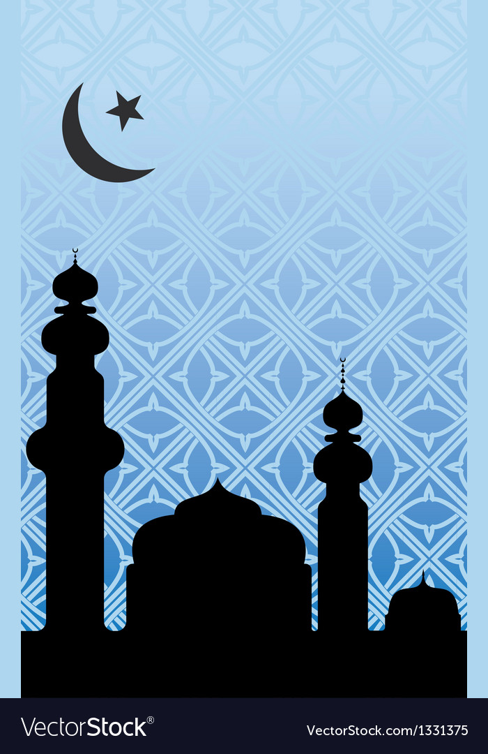 Islamic mosque background vector   Price: 1 Credit (USD $1)