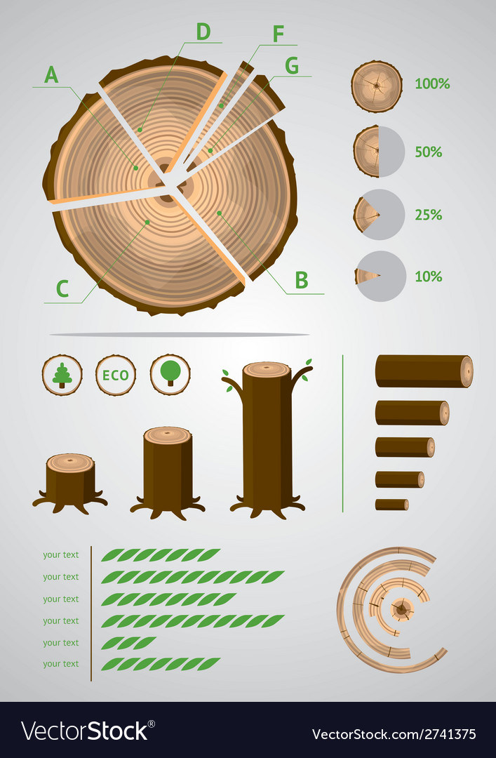 Log infographic vector | Price: 1 Credit (USD $1)
