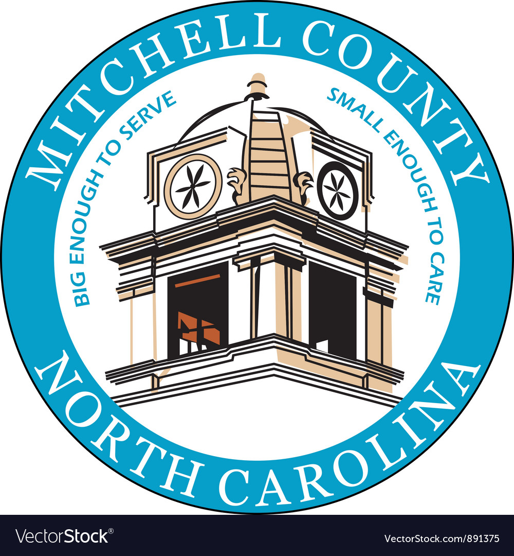 Mitchell county seal vector | Price: 1 Credit (USD $1)