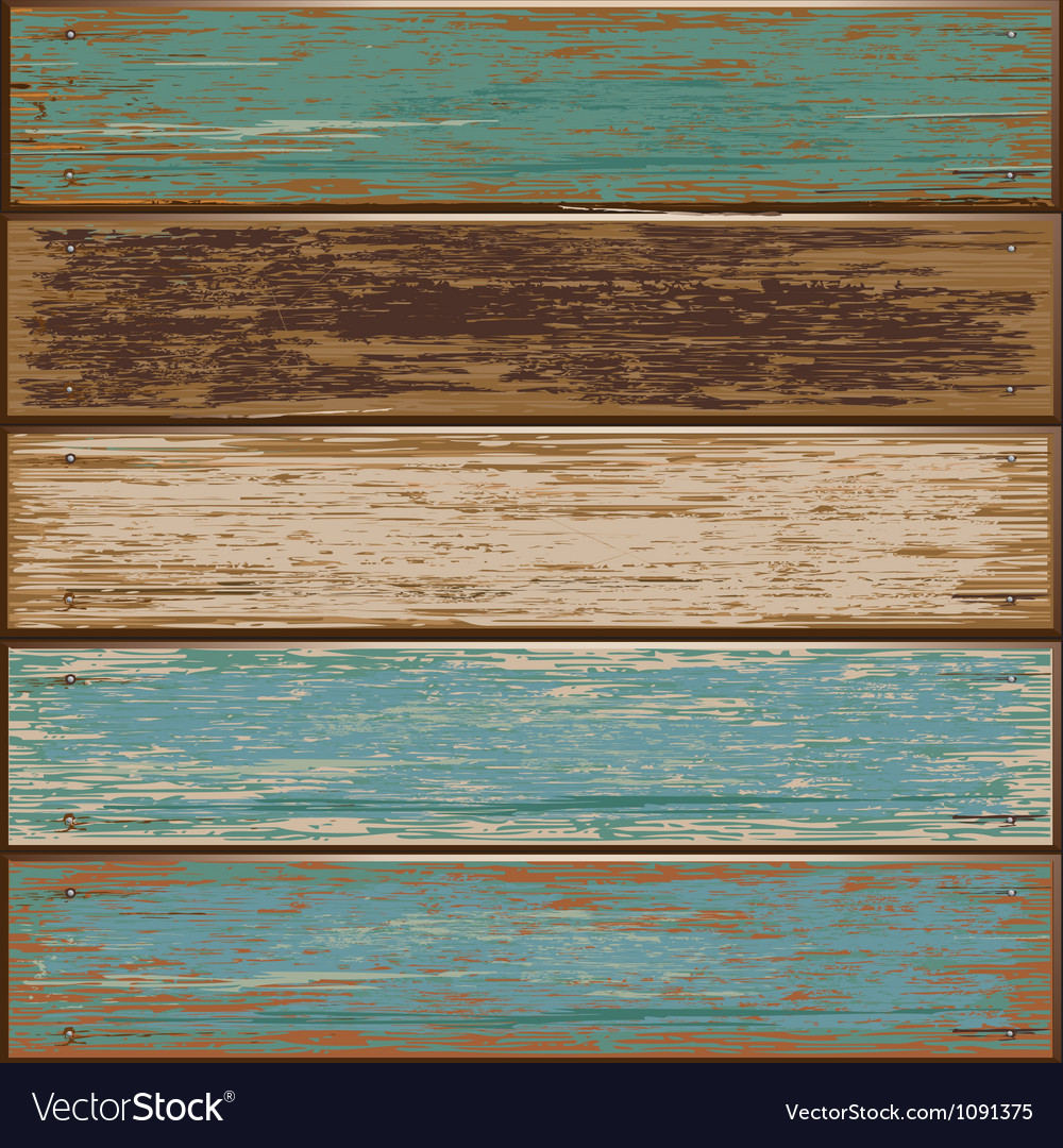 Old paint wood texture seamless background vector | Price: 1 Credit (USD $1)